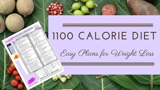 1100 Calorie Diet Plans