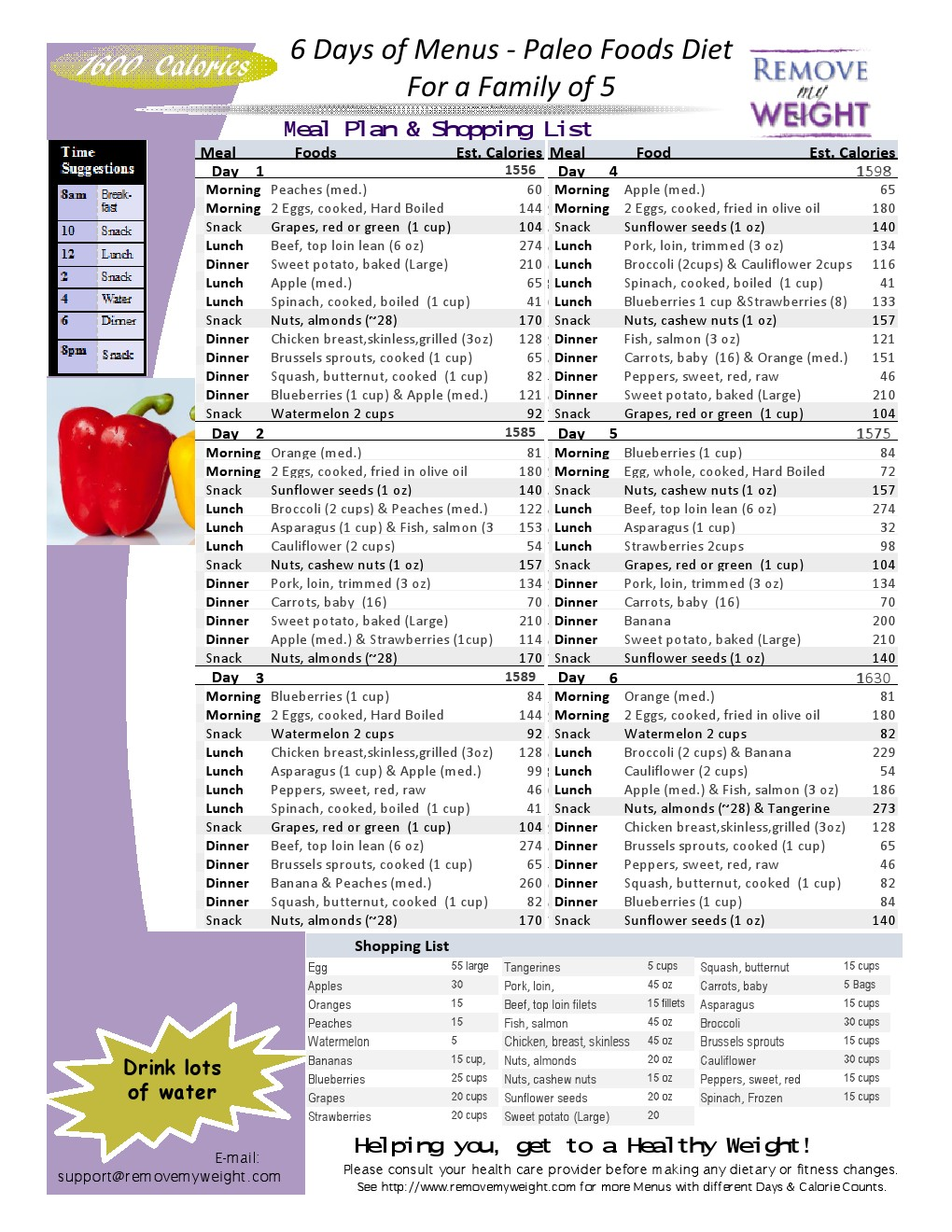 ... Calories a Day Meal Plan to Lose Weight - Menu Plan for Weight Loss