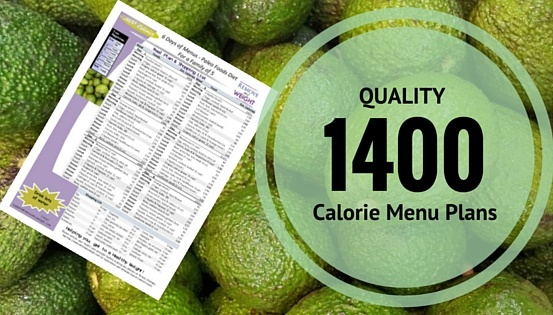 1400 Calories a day Menu Plans for Weight Loss