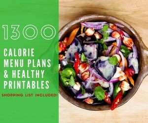 1300 Calorie Menu Plan for Weight Loss
