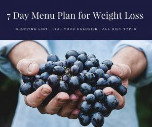 7 Day Menu Plan for Weight Loss