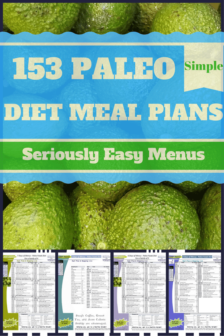 Paleo Diet Menu Plans