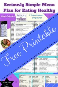 1200 Calories per Day Diet Menu Plan
