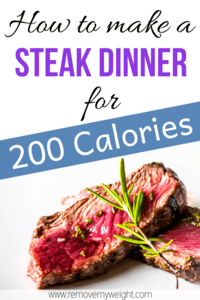 Low Calorie Steak Dinner