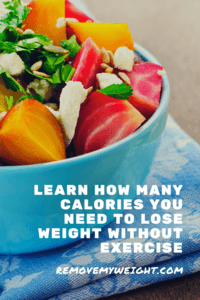 how many calories to lose weight without exercise find