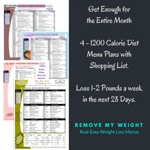 PURCHASE: 1200 Calorie Bundle - Menu Plan for Weight Loss