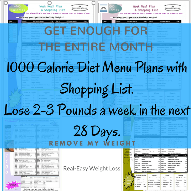 000 Calorie Diet Menu Plans